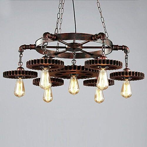 Industrial Metal Pendant Light Retro Iron Gear Chandelier Antique Metal Hanging Ceiling Light Fixture Classic Hanging Light