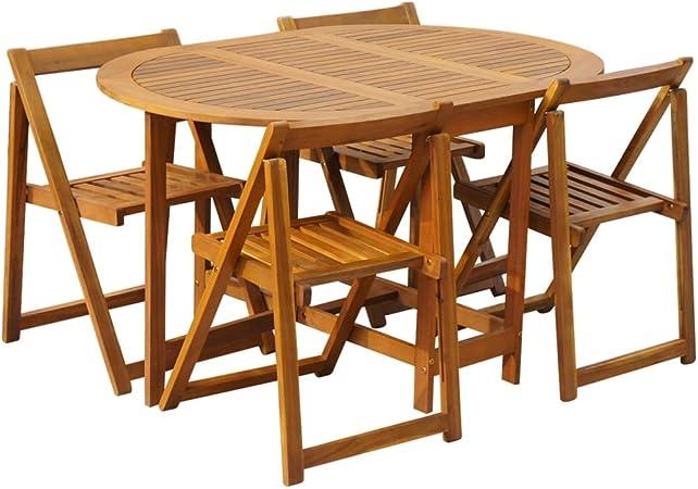 Festnight Conjunto de Muebles para Jardín Plegable 5 Piezas ...
