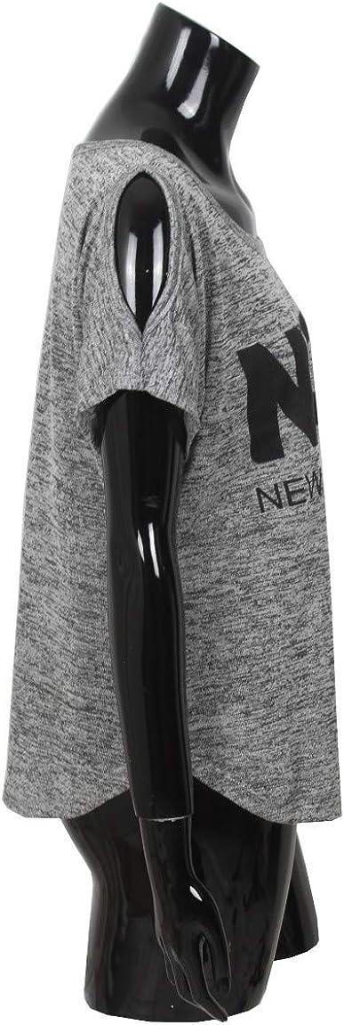 T-Shirt /épaule d/énud/ée imprim/é pour /ét/é Femme Emma /& Giovanni