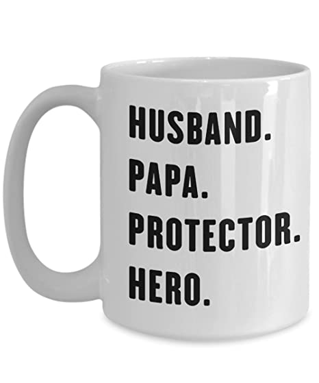 776503fad Gift For Daddy - Husband Papa Protector Hero Love Dad Coffee Mug Print -  Novelty C-Shape Tea Cup - Great For Birthday Special Occasion Parent's Day  Father's ...
