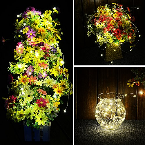 LED Fairy Lights 33ft 100 LEDs Battery Operated String Lights Waterproof Multi Color Changing, Firefly Lights with Remote Control for Indoor,Outdoor,Bedroom,Patio,Wedding,Party Christmas Decorations by Omika (Image #5)