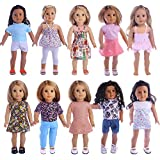 "18inch American Girl Doll Clothes Wardrobe Makeover- 10 Complete Outfits, Fits 18"" Doll Clothes-ZWSISU TOYS"