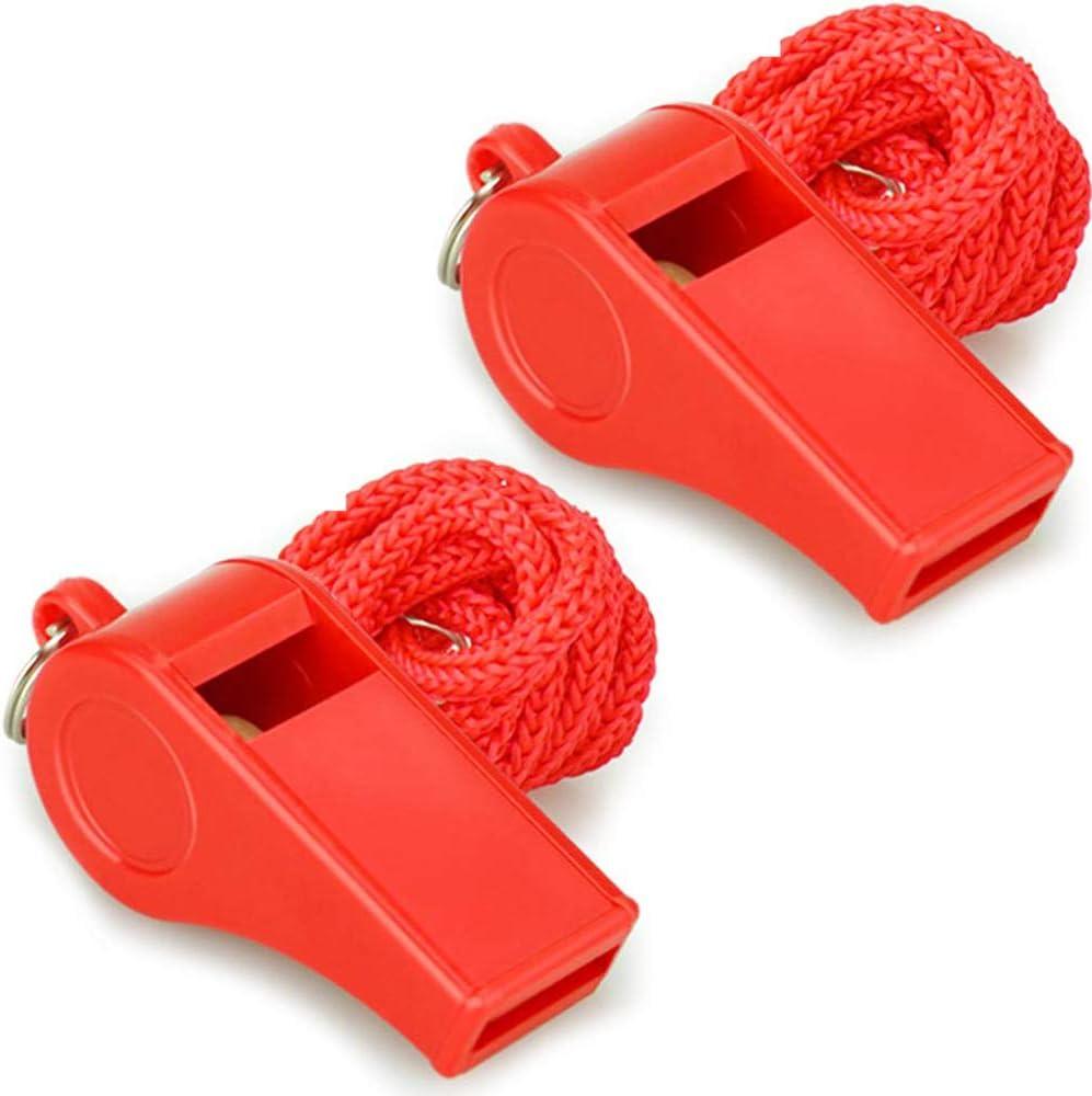 silbato de doble frecuencia Silbato de salvavidas rojo brillante de pl/ástico con boca de rescate de 8 piezas silbato de emergencia silbato de supervivencia al aire libre//silbato de salvavidas