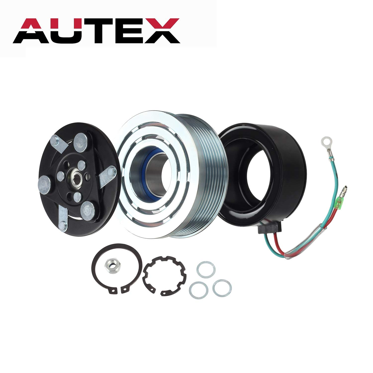 Autex Ac A C Compressor Clutch Coil Assembly Kit Honda Civic Wiring 80221swaa02 38810rrba01 4918u1 Replacement For 2006 2007 2008 2009 2010 2011 18l