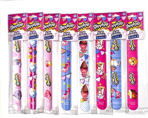 - Shopkins Season 2 Toy Slap Bands Bracelet Set of All 8
