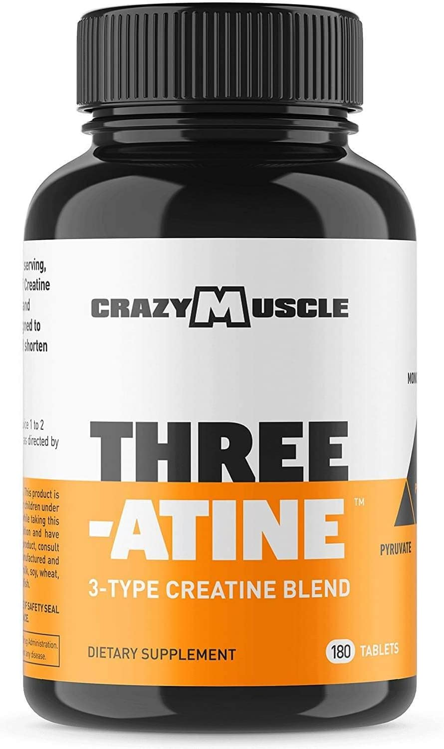 Creatine Pills 2 Month Supply 5,000mg Per Serving – 180 Creatine Tablets Better Than creatine Capsules – Muscle Gain Supplement with 5g of Creatine Monohydrate, Pyruvate AKG – Optimum Strength