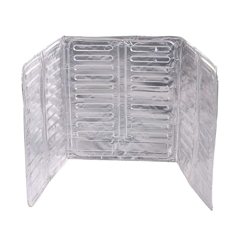 Zerama 3 Sides Oil Splash Guard Aluminum Foil Stove Shield Oil Splatter Screen Insulation Protector Kitchen Tool