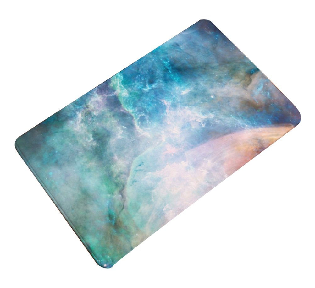 LivebyCare Nebula Galaxy Thin Door Mat Flannel Antislip Doormat Entry Decor Front Entrance Indoor OutThin Door Mats for Parlour Halloween Party Hotel