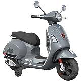B70592 Moto eléctrica PIAGGIO para niños VESPA GTS con ruedas LED 12V - Gris