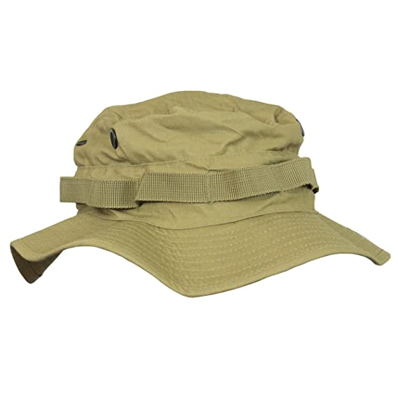 4ca503bc58ae2 British Army Style Coyote Jungle Boonie Bucket Hat With Neck Flap   Amazon.co.uk  Clothing