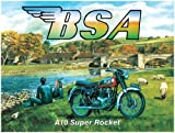 Original Metal Sign Co. Trevor Mitchell BSA A10 Super Rocket Metal Wall Sign by Original Metal Sign Co