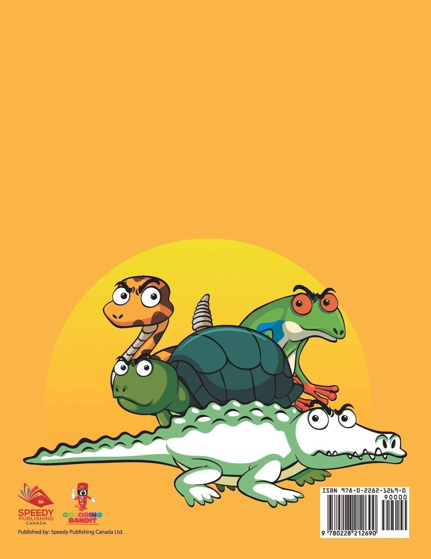 Reptiles Y Anfibios: Libro Para Colorear De Niños (Spanish Edition ...