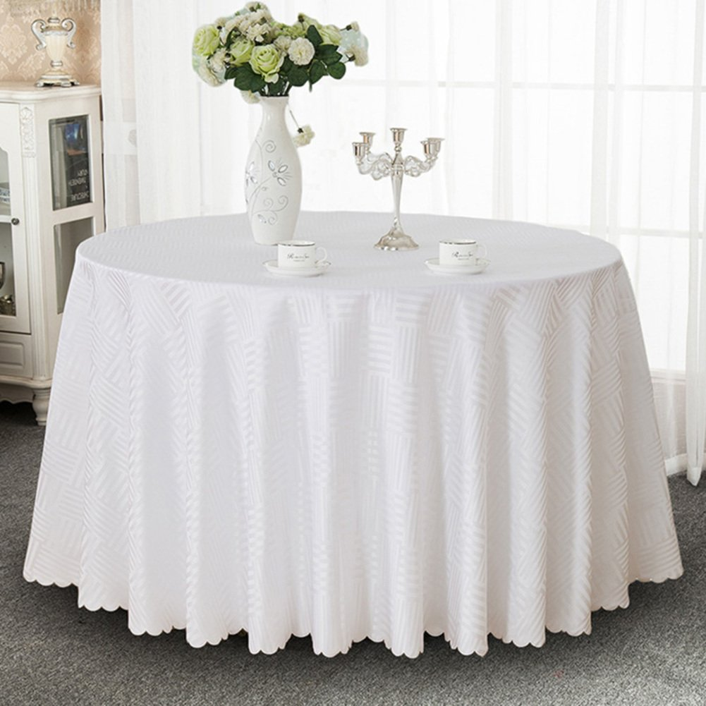Hotel Tablecloth,Fabric Round Table European Style Restaurant Dining Tables Round Tablecloth,Square Tablecloth Table Table Cloth-E diameter380cm(150inch) by JIN Tablecloths (Image #1)