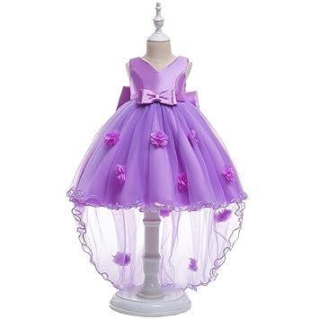 aa070b733 RBB Vestido de bebé Falda de Cola Larga niña de Las Flores Vestido de Novia  Vestido