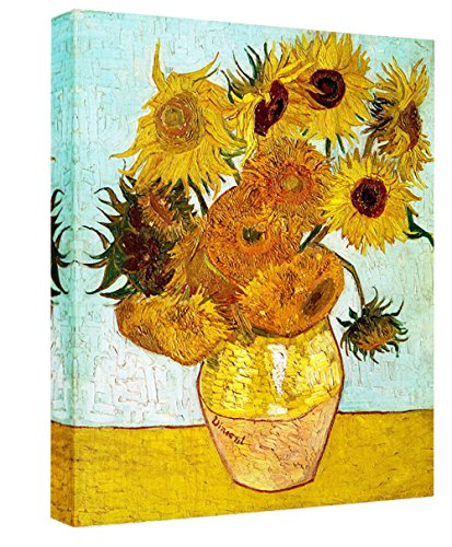 Eliteart-Twelve Sunflowers By Vincent Van Gogh Giclee Art Canvas Prints