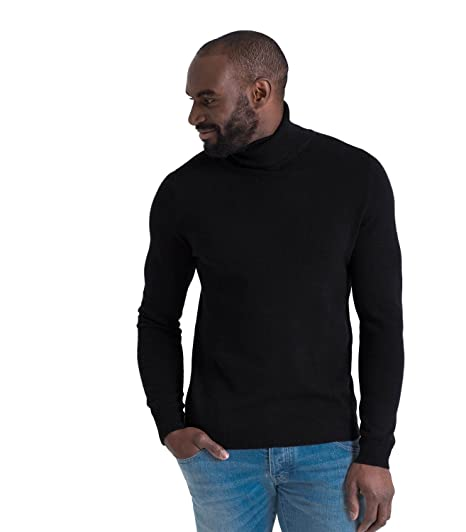 d1a62cf352b Mens Cashmere Merino Roll Neck Long Sleeve Top Fine Knit Polo Neck Knitted  Sweater