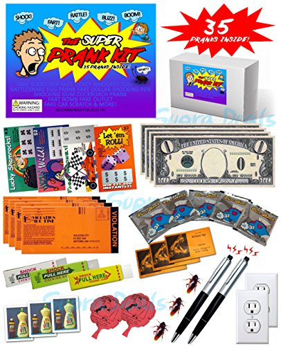 The Super Prank Kit 35 Funny Pranks and Jokes in a Box LOADED PRANK PACK