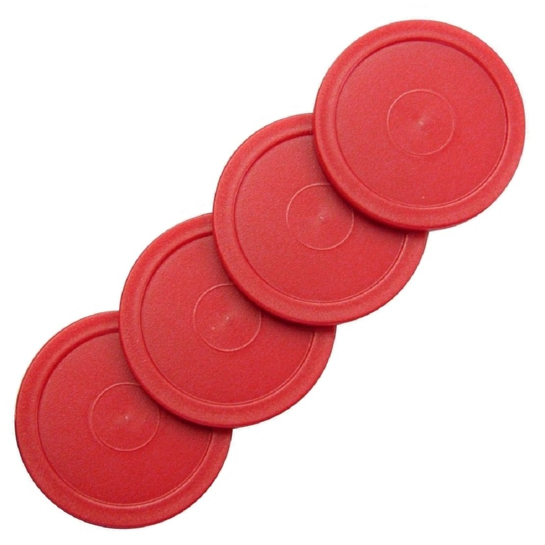 4 Red Puck Set 2-1/2' for Harvard Air Hockey Billiard Evolution