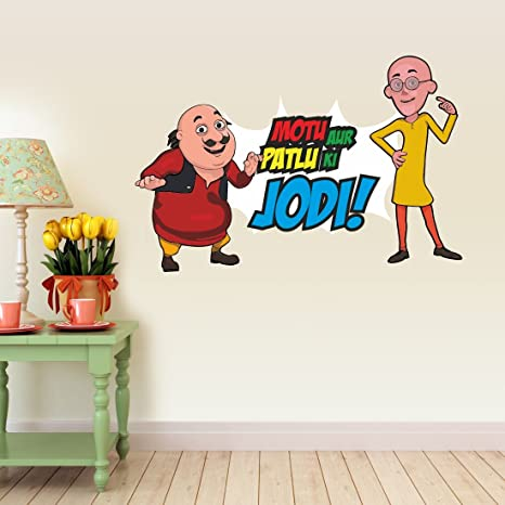 Buy Asian Paints Motu Aur Patlu Ki Jodi Wall Sticker Pvc Vinyl
