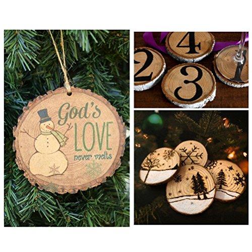 ROSENICE 5-6CM Wood Log Slices Discs for DIY Crafts Wedding Centerpieces 50pcs Sliced Log