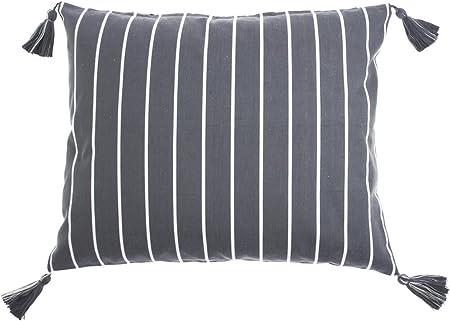 Federe Cuscini 50 X 60.Federa Per Cuscino 50 X 60 Cm A Righe Colore Grigio Bianco