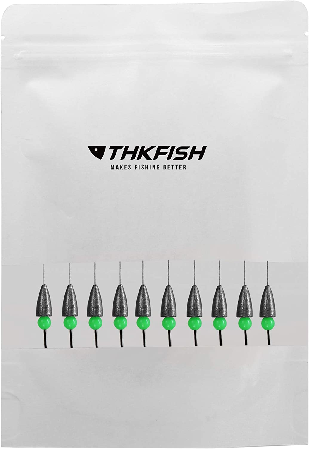 thkfish Fishing Weights Bullet Weights Carolina Ready Rigs Pre Rigged Carolina Rigs 1//5oz 1//4oz 3//8oz 10pcs