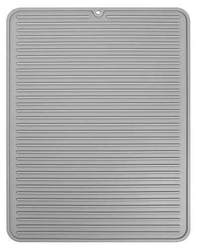 Oxo Silicone Drain Mat Grey 42 X 32 Cm Amazon Co Uk