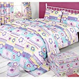 Mucky Fingers Childrens Patchwork Duvet Cover Bedding Set (Twin Bed) (Patchwork)