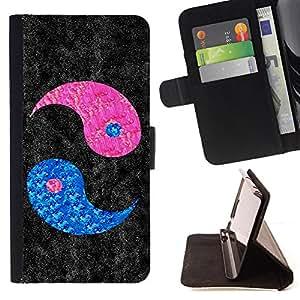 - Yin Yang Pink Love Valentines - Estilo PU billetera de cuero del soporte del tir???¡¯???3n [solapa de cierre] Cubierta- For Samsung Galaxy S3 III I9300 ( Devil Case )