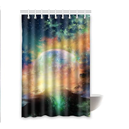 Amazon Bensor Shower Curtains Planet Bathroom With