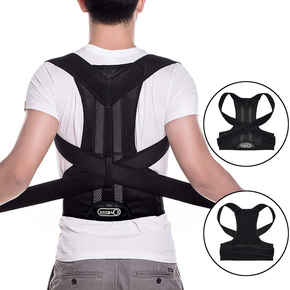 Posture Corrector for Men and Women, Back Posture Brace Support to Improve Chest Clavicle Lumbar Slouching Hunching (XL) by brandless