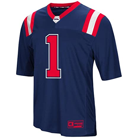 official photos 78c6e 740f4 Amazon.com : Colosseum Mens Ole Miss Rebels Football Jersey ...