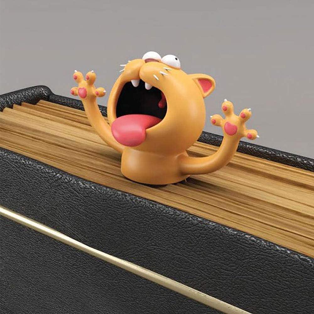 f/ür Studenten Lesezeichen Lesezeichen TONGXU Lesezeichen ideales Geschenk f/ür Kinder und M/ädchen Katze 3D-Tiere Schreibwaren B/üro