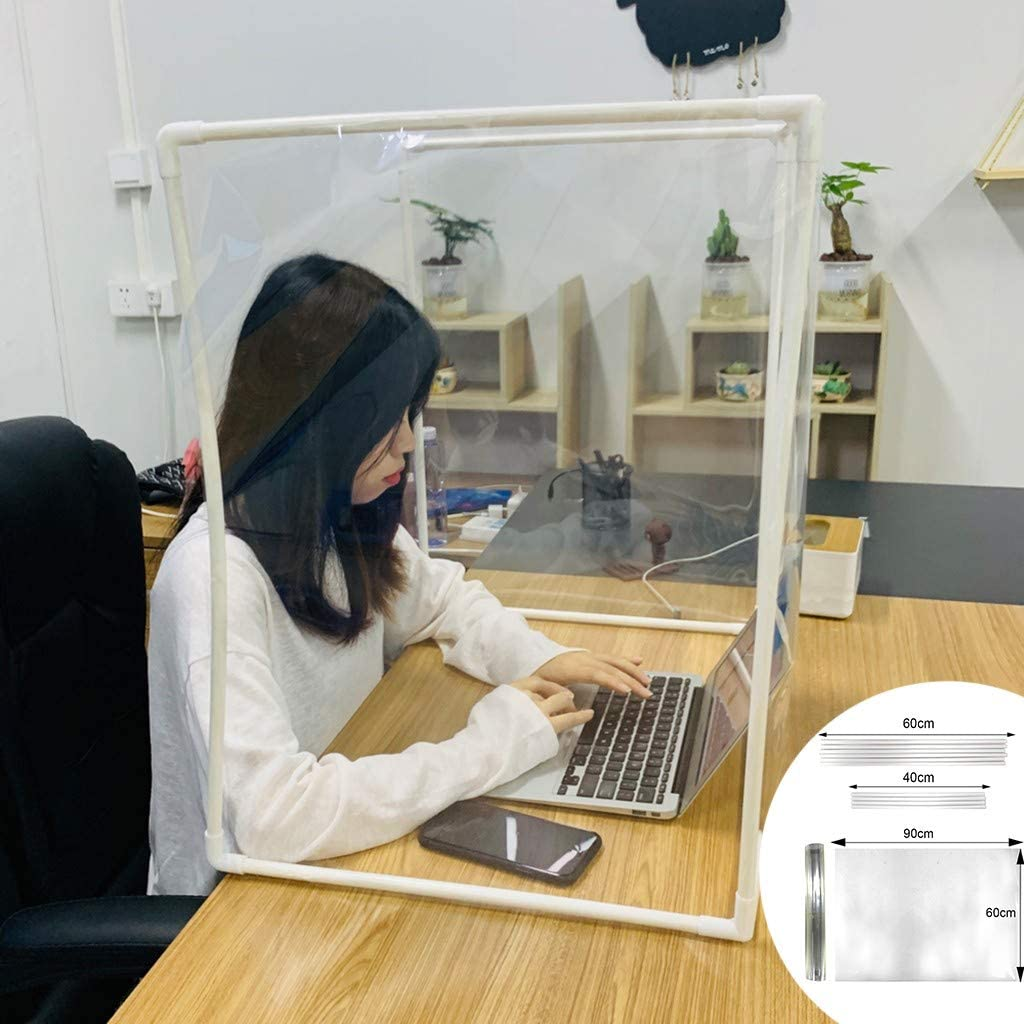 New Creative DIY Splicing Desk Partition Baffle Sneeze Guard,Screen Anti-Spray Transparent Isolation Board Protect,Privacy Panel Barrier for Office,Shop,Restaurant,Bar