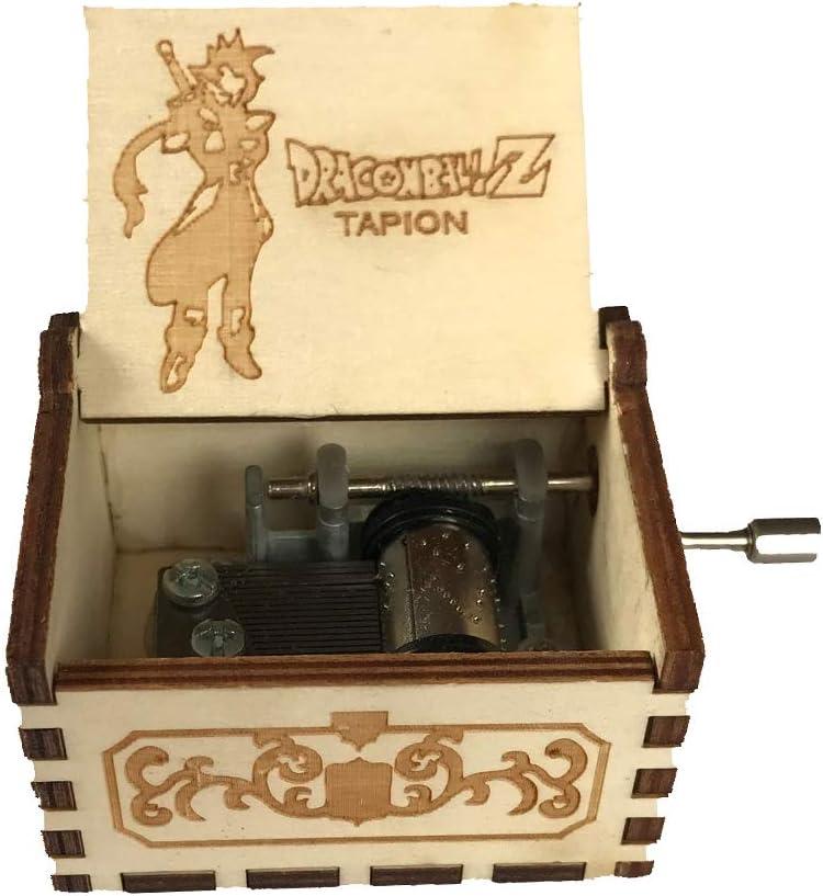 VIMOER Mini caja de música de madera con manivela, regalo de Navidad para la decoración de caja de música artesanal Melody Melody Melody: Amazon.es: Hogar