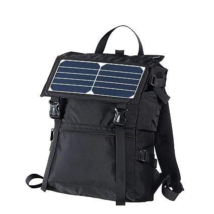 AZCX Mochila de Senderismo Solar, Cargador Solar de 5 vatios ...