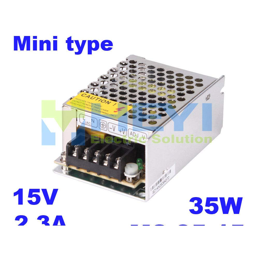 iProTool Micro Single Switching Power Supply MS-35-15 Output 15VDC 2.3A 35W Mini Power Supply