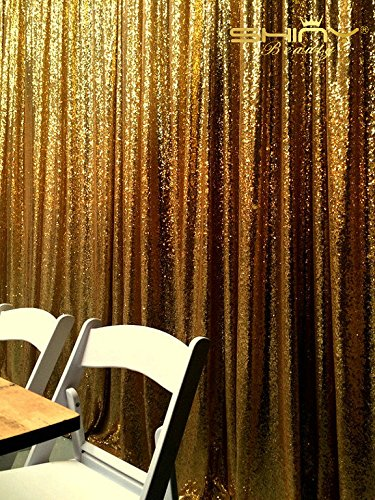 ShinyBeauty Sequin Backdrop-10FTX10FT-Gold Sequin Fabric Wedding Backdrops,Photography Background,Ceremony Background,Christmas Photo (Ceremony Photo)