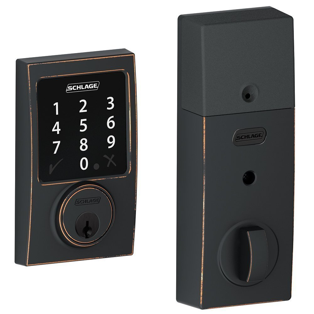 (New Model) Schlage Connect Century Touchscreen Deadbolt with Z-wave Technology and Extra Key (Aged Bronze) by Smart home