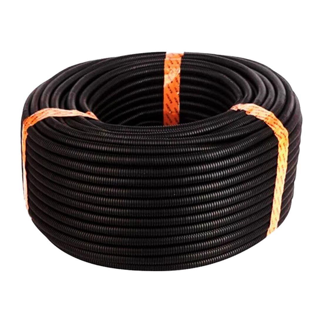 SODIAL 100 Ft 3/8 inch Split Wire Loom Conduit Polyethylene Tubing Black Color Sleeve Tube
