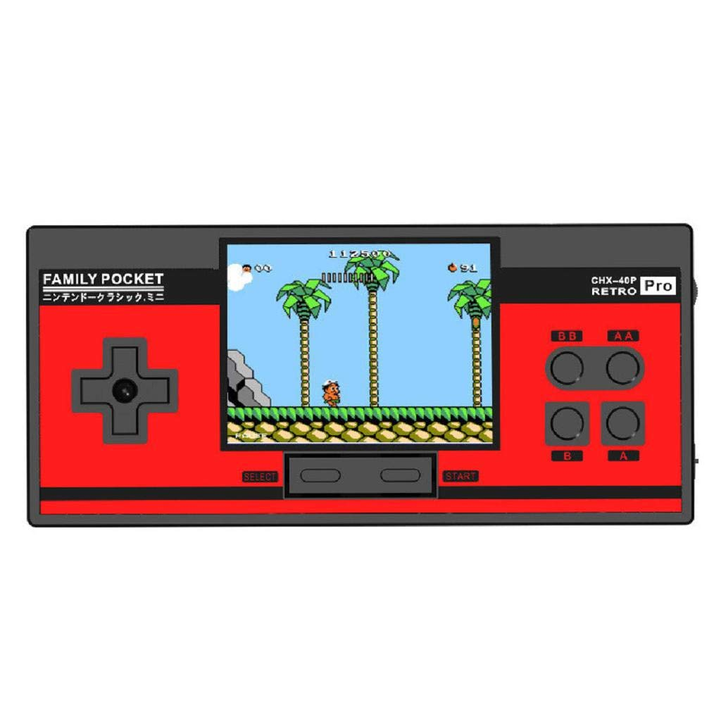 Built in 638 Games 8 Bit Game Console,Hongxin Retro Portable Handheld Family Pocket Game Player (Red)
