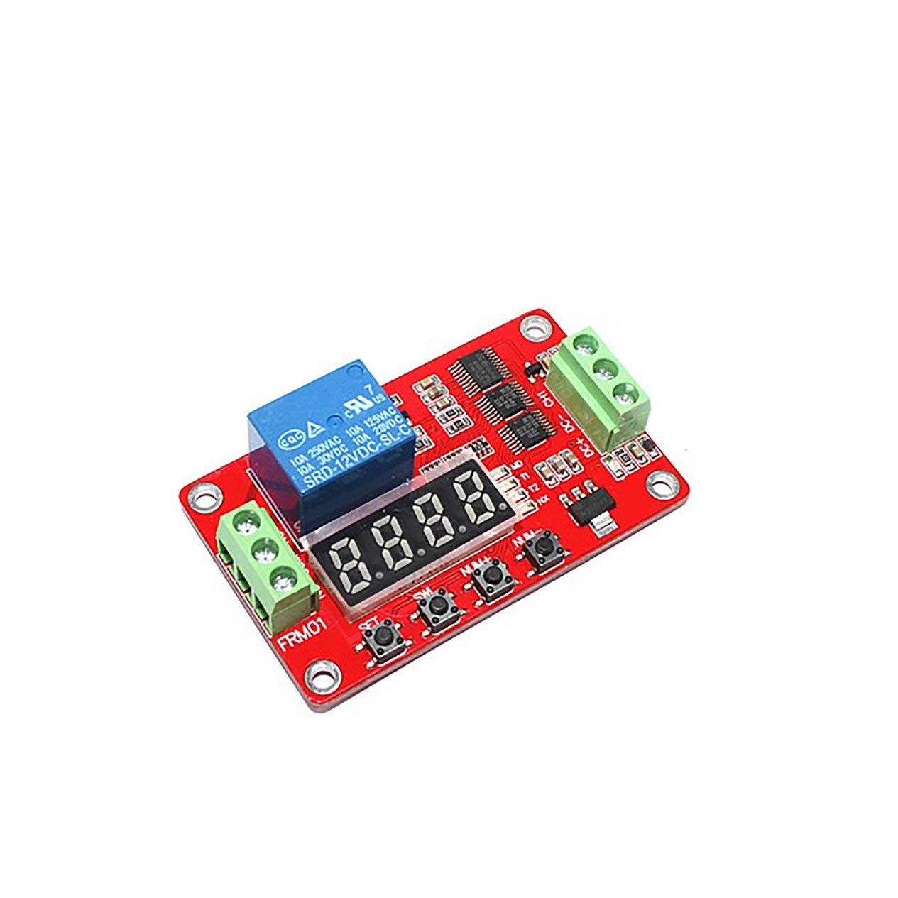 EdBerk74 FRM01 Module relais multifonction CC 12 V 1 canal module de temporisation /à verrouillage automatique commutateur de temporisation de boucle