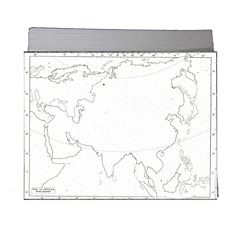 CRAFTWAFT BLANK MAP OF ASIA FOR MAP POINTING PACK OF 100 ...