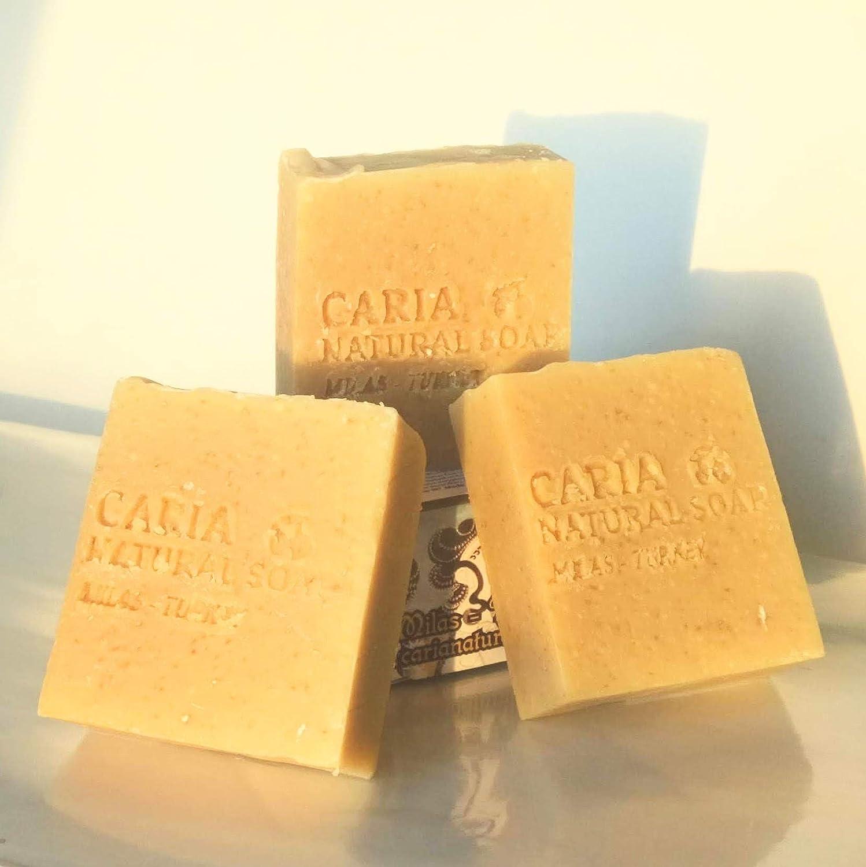 Caria Natural Barra de jabón de avena y leche de cabra con ...