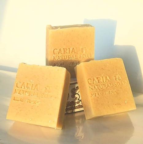 Caria Natural Barra de jabón de avena y leche de cabra con aceite de ...