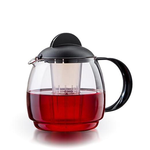 Tetera de cristal para microondas jarra 1, 2L con filtro