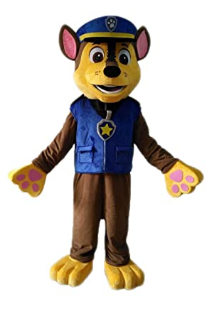 a9ee76df6 paw Patrol Mascot Costume for Adults Chase Mascot Costume paw Patrol Mascot  for Sale: Amazon.co.uk: Clothing