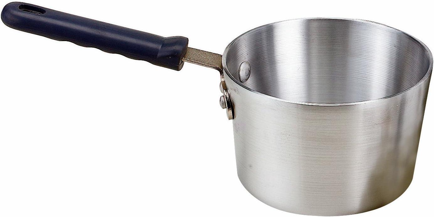 Crestware 3-Quart Heavy Gauge Aluminum Sauce Pan with Grip Handle Heat Resistant up to 350-Degree Crestware Commercial Kitchen PAN3H