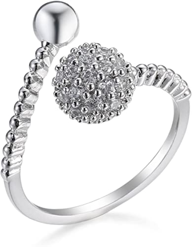 Amazon Com Anbover Evening Dress Rings Crystal Adjustable Rings