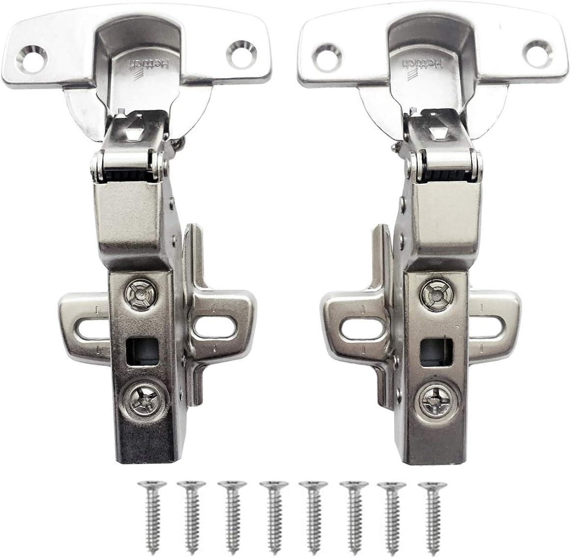 Hettich Sensys 8645i TH52 110 Grado Arremetida Bisagra 9071207 Automática con Amortiguación Integrada Mecanismo de Cierre Automático para Puerta Mueble Armario Juego de 2